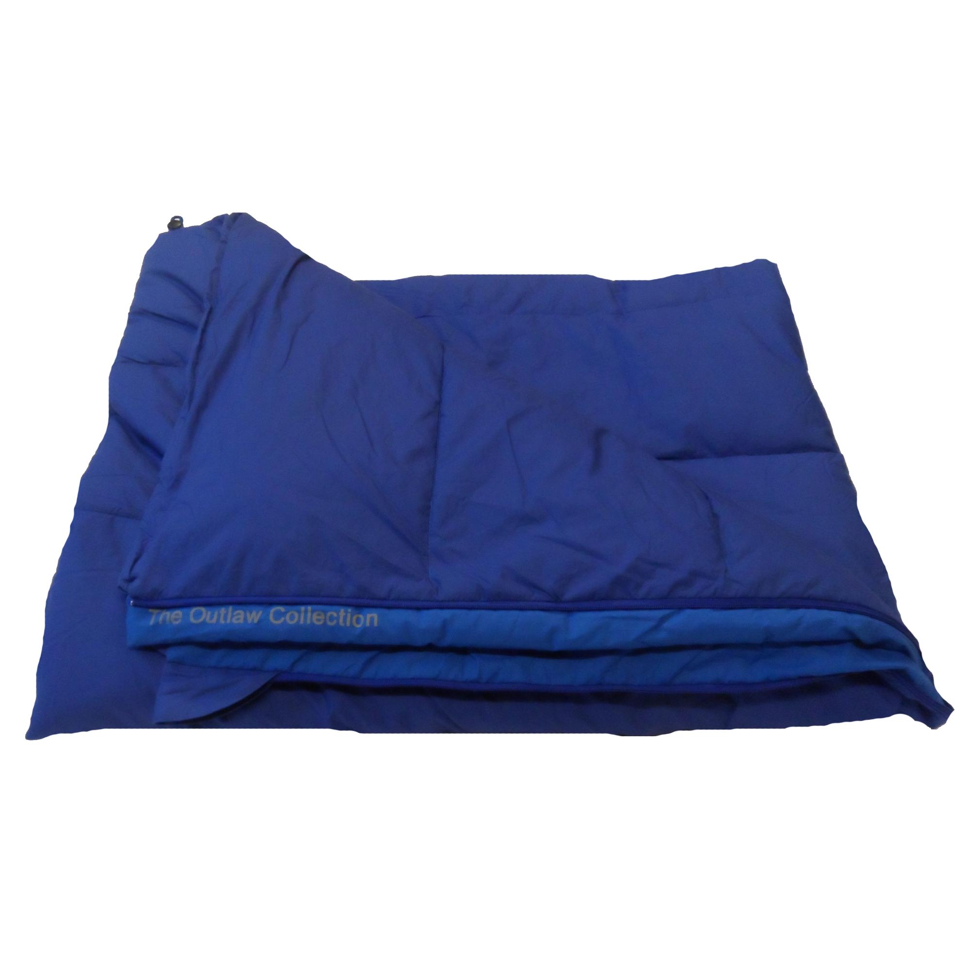 Blauwe Outlaw dekenmodel slaapzak