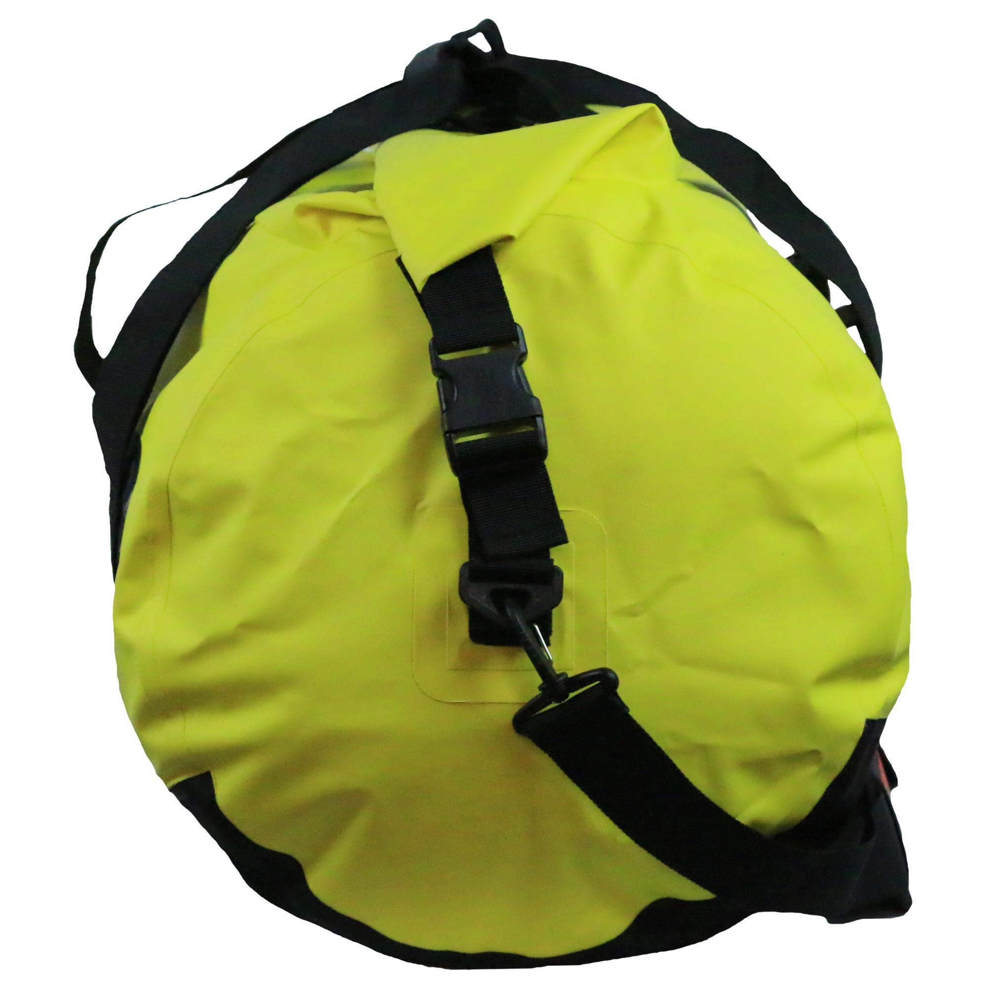 waterdichte duffeltas geel